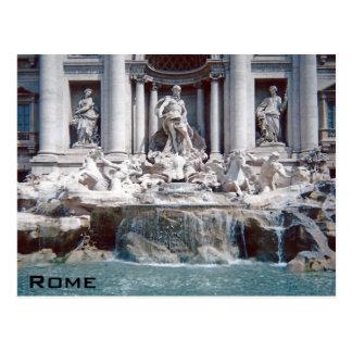 Treviの噴水ローマ ポストカード
