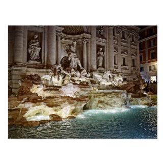 Treviの噴水-ローマ、イタリアの郵便はがき ポストカード