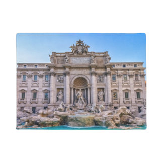 Treviの噴水、ローマ、イタリア ドアマット