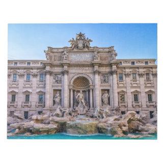 Treviの噴水、ローマ、イタリア ノートパッド