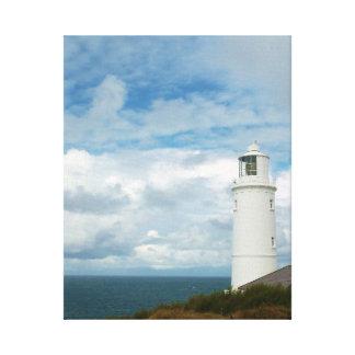Trevoseのヘッド灯台コーンウォールイギリス キャンバスプリント