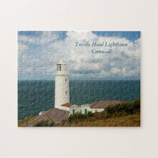Trevoseのヘッド灯台コーンウォールイギリス ジグソーパズル