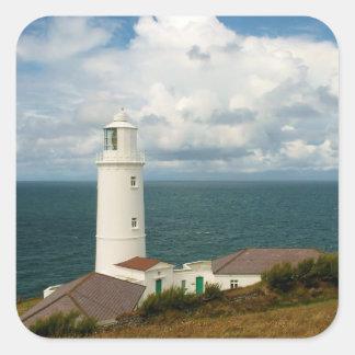 Trevoseのヘッド灯台コーンウォールイギリス スクエアシール