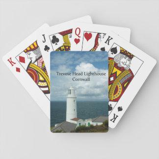 Trevoseのヘッド灯台コーンウォールイギリス トランプ