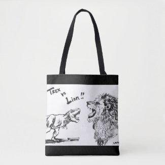 TREX vs. Lion 【BAG】 トートバッグ