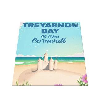 Treyarnon湾、コーンウォール旅行ポスター キャンバスプリント