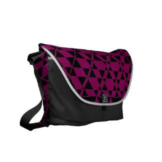 Triagonalの黒檀の(赤すみれ色の)メッセンジャーバッグ メッセンジャーバッグ