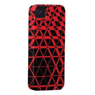 Triagonalの黒檀(ルビー)のiPhone 4Sの場合 Case-Mate iPhone 4 ケース
