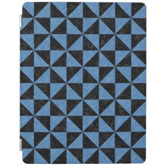 TRIANGLE1黒い大理石及び青鉛筆 iPadスマートカバー