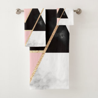 triangles,gold,silver,white,marbles,modern,trendy, バスタオルセット