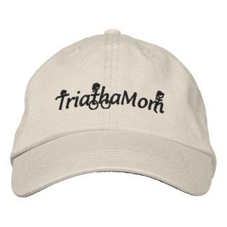 TriathaMomはあや織りの帽子を刺繍しました 刺繍入りキャップ