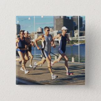 Triathlonersのランニング 5.1cm 正方形バッジ