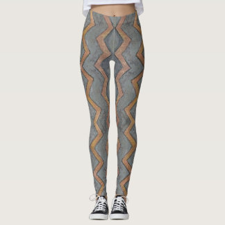 Tribal Grey Leggings レギンス