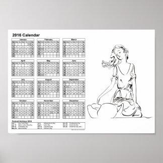 tribals/カレンダー2016 DINA4のニンフ ポスター