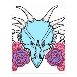 Triceratops女性 ポストカード