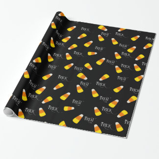 Trick or Treat candy corn pattern ラッピングペーパー