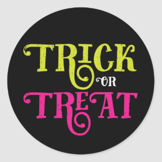 Trick or Treat Vintage Halloween Stickers ラウンドシール