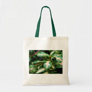 Tricoloredの風刺漫画植物のトート トートバッグ