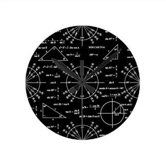 Trig及び三角形 ラウンド壁時計