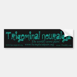 Trigeminal神経痛のバンパーステッカー バンパーステッカー