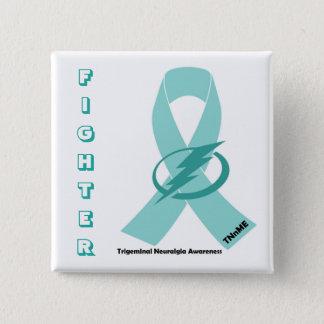 Trigeminal神経痛の戦闘機ボタン 5.1cm 正方形バッジ