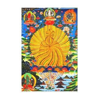 Trikaya仏強力で前向きなエネルギー曼荼羅 キャンバスプリント