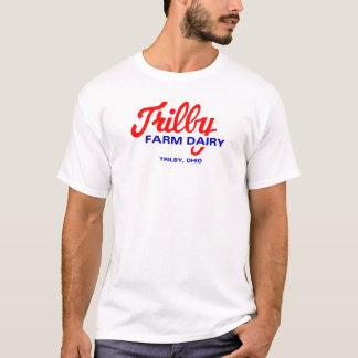 Trilbyの農場の酪農場のトレドオハイオ州のロゴ Tシャツ