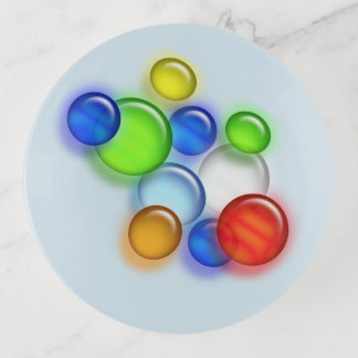 Trinket Tray - 3D Colored Bubbles トリンケットトレー