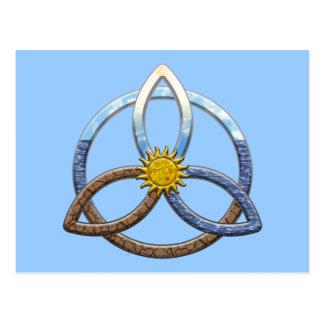 Triquetraの地球の空気水 ポストカード
