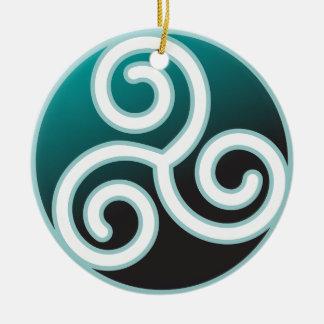Triskeleのケルト人の螺線形 セラミックオーナメント
