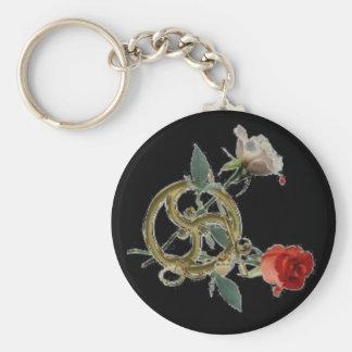 triskellのバラの黒 キーホルダー