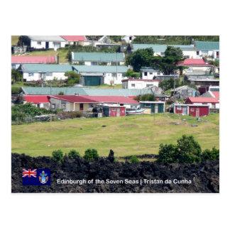 Tristan da Cunhaの郵便はがき。 エジンバラの実質の写真 ポストカード