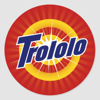 Trololoの小さいステッカー ラウンドシール