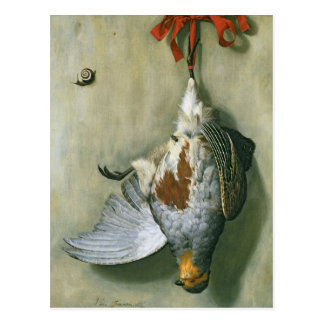 Trompe - l 'ヤマウズラ1666年が付いているoeil ポストカード