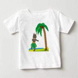 Tropical cat ベビーTシャツ