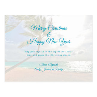 Tropical Christmas New Year Christian Message Card ポストカード