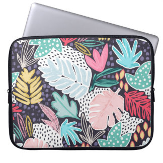 Tropical Collage Colourful Pattern Laptop Sleeve ラップトップスリーブ