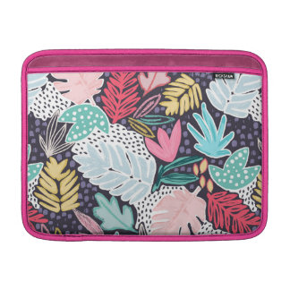 Tropical Collage Colourful Pattern MacBook Sleeve MacBook スリーブ