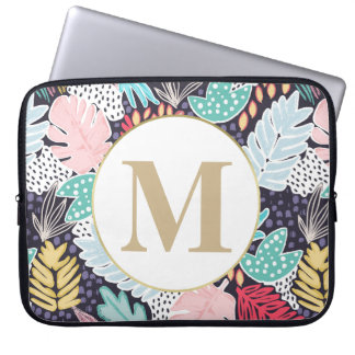 Tropical Colourful Collage Pattern Laptop Sleeve ラップトップスリーブ