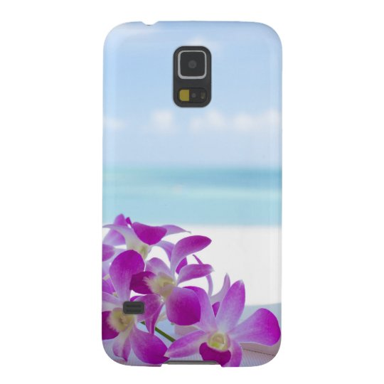 Tropical Flowers by the beach Galaxy S5 ケース