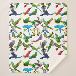Tropical Parrots Sherpa Blanket シェルパブランケット