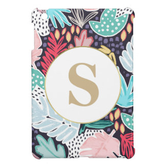 Tropical Shapes Pattern Custom Monogram iPad Case