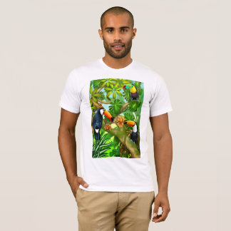 Tropical Toco Toucan Birds T-Shirt Tシャツ