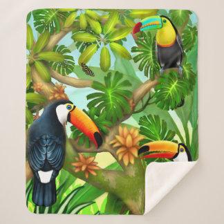 Tropical Toucan Jungle Sherpa Blanket シェルパブランケット