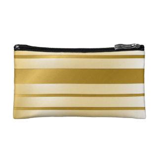 Trousse de maquillage petit modèle GOLD Lignes コスメティックバッグ