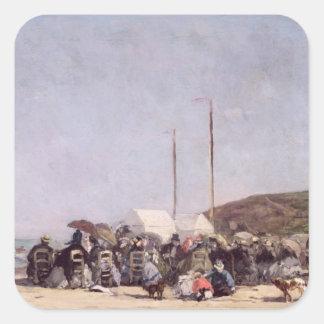 Trouville 1864年のビーチ スクエアシール