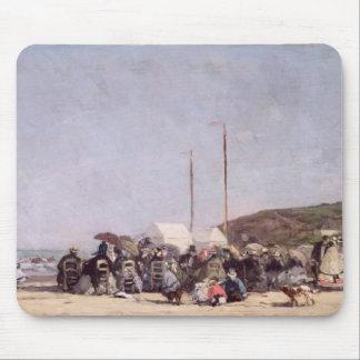 Trouville 1864年のビーチ マウスパッド