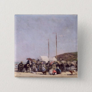 Trouville 1864年のビーチ 5.1cm 正方形バッジ