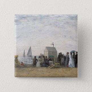 Trouville 1867年のビーチ 5.1cm 正方形バッジ