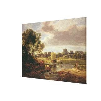 Trowse草原、ノーリッジの近くで、1828年 キャンバスプリント